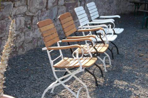 5-teiliges Gartenmöbel Sitzgruppe klappbar Robinie massiv AW-Franko-Set-1 - Vorschau 4