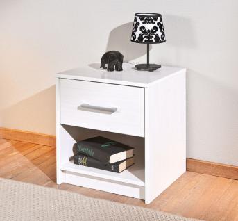 Nachttisch 1 Schublade Kiefer massiv 2 Farben L-Nixon-NK