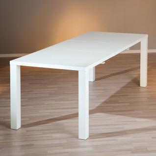 Tisch Esstisch ausziehbar Hochglanz weiß L-Oklahoma