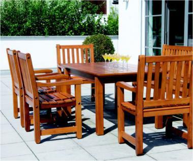 6-teiliges Gartenmöbel Sitzgruppe Mahagoni massiv 3 Ausführungen AW-Rio-Set-1 - Vorschau 2