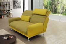 Sofa inkl. Rückenfunktion 2 Nierenkissen Farbkombination Materialmix Federkern DO-Bionda-1