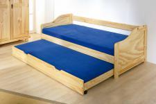 Kinderbett Bett 2 Lattenroste Massivholz natur 2 Größen Lore
