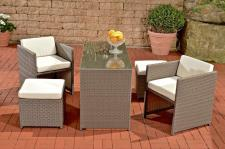5-tlg Sitzgruppe Lounge Set Gartenmöbel Rattan 4 Farben CL-Talia