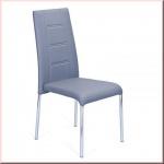 Stuhlset 4-teilig 4 Hochlehner Stuhl Chrom 4 Farben schwarz grau weiß beige Besucherstuhl L-Ibiza