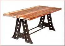 Esstisch Tisch Shabby chic rechteckig Mangoholz massiv recycled Unikat L-Africa