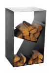 Kaminholzregal Stahl schwarz 3 Fächer Brennholzregal handgefertigt N-BR-122