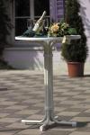Stehtisch rund Ø 70 cm weiß voll klappbar Gartentisch BF-Mona-1