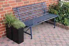 Gartenbank Stahl 3 Farben LC-Steel