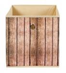Faltbox Aufbewahrungsbox 3 Dessins Holzoptik Regalbox 32 x 32 x 32 cm L-Woody