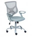 Schreibtischstuhl höhenverstellbar Armlehnen Bürostuhl hellgrau L-Ameli