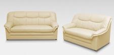 2-teilige Polstergarnitur 2-Sitzer Sofa 3-Sitzer Couch Federkern DO-Boston-3