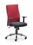 Drehstuhl Armlehnen Bürostuhl 2 Farben Lendenwirbelstütze Synchronmechanik Gewichtseinstellg. M-Mila