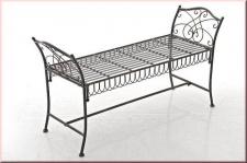 Gartenbank Nostalgie Bank Retro Metall Eisen 6 antik Farben bronze weiß braun grün creme CL-Shari