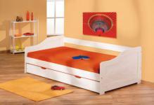 Kinderbett Bett 2 Lattenroste Massivholz weiß 2 Größen Lione
