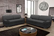 2 tlg. Couchganitur 2-Sitzer Sofa 3er Couch Polstergarnitur DO-Aera-1