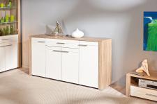 Sideboard 2 Farben Sonoma-Eiche/weiß Wildeiche Aquilla-1/-2