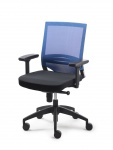 Bürostuhl 3 Farben mit/ohne Armlehnen Lendenwirbelstütze Synchronmechanik Drehstuhl M-More