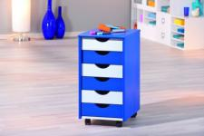 Rollcontainer Massivholz 2 Farbkombinationen L-Bob/Pein