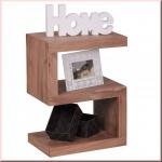 Beistelltisch Regal Massivholz 2 Holzarten Akazie Sheesham S Cube Konsole W-S601302