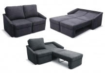 Relaxsofa Sofa inkl. Bettfunktion Schlafsofa Federkern Boxspringsofa viele Farben DO-Rely
