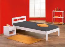 Bett 4 Größen Massivholz weiß L-Fabrice