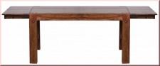 Esstisch erweiterbar 160-240 cm Massivholz Tisch 2 Holzarten Akazie Sheesham handgefertigt W-E241222