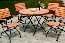 Tisch Gartentisch rund klappbar Robinie massiv AW-Franko-4