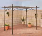 Pavillon Pergola Metall anthrazit CL-Ulla-1