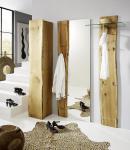 Garderobe Set 3-teilig Landhausstil Eiche massiv sägerauh AW-Wildtree-Set-F