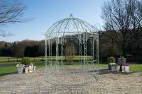 Pavillon Pergola Metall Eisen 6 antik Farben Höhe 313 cm CL-Loretta - Vorschau 5