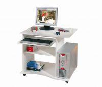 Computertisch Schreibtisch rollbar 3 Farben Sonoma Weiß Walnuß L-Dora - Vorschau 5
