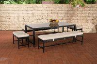 5-tlg Garten Dining Lounge inkl. Kissen Sitzgruppe Polyrattan 4 Farben CL-Haiti - Vorschau 5