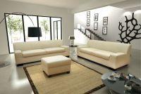 3-tlg. Couchgarnitur 3er Couch 2er Sofa Hocker Polstergarnitur DO-Napoli - Vorschau 5