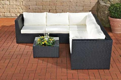 6-tlg Garten Lounge 5 Farben Rattan inkl. Auflagen CL-Boccia ...