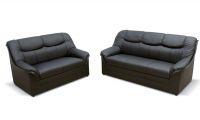 2-teilige Polstergarnitur 2-Sitzer Sofa 3-Sitzer Couch Federkern 3 Farben Kunstleder DO-Boston-3 - Vorschau 5