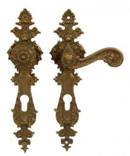 Türgriff mit Knauf für alte antike Türen Bronze