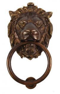 XXL Löwenkopf Türklopfer Bronze - Vorschau 1