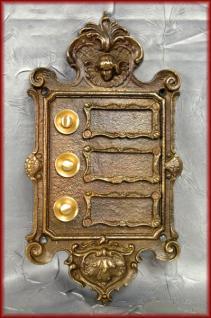 3 fach Klingel Klingeltaster Klingelplatte antike Ausführung Bronze
