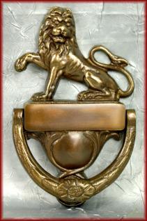 Löwenkopf Türklopfer Haustür m. Namensschild