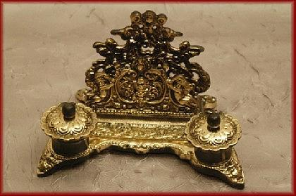 Barock Briefständer Schreibtischgarnitur
