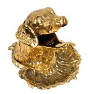 Hundekopf Aschenbecher / Schale