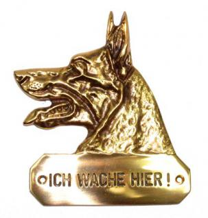 Warnschild Schäferhund Hundekopf