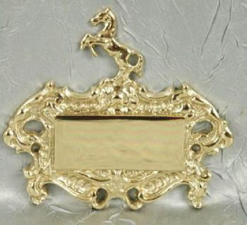 Pferd Türschild Namensschild Messing - Vorschau