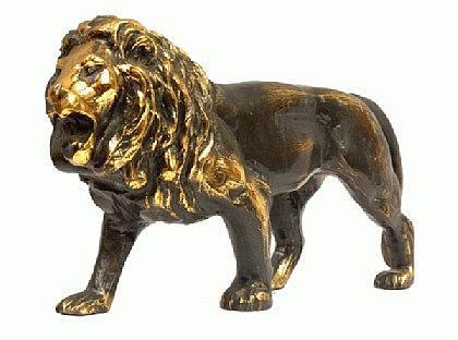 Löwen Statue Figur Messing - Vorschau 2