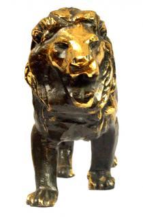 Löwen Statue Figur Messing - Vorschau 3