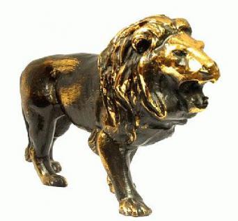 Löwen Statue Figur Messing - Vorschau 4