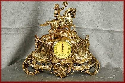 Barock Kaminuhr Tischuhr Uhr Pendule Messing - Vorschau 1