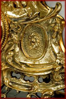 Barock Kaminuhr Tischuhr Uhr Pendule Messing - Vorschau 3