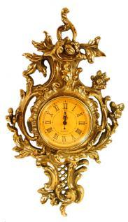 Barock Wanduhr Uhr Messing