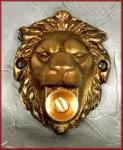 LöwenKopf Klingel Bronze